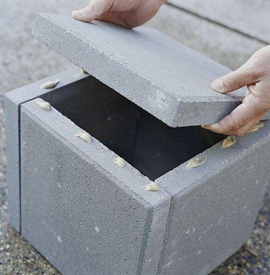Diy Concrete Planter Box: How To Make A Planter Out Of Brick Patio Blocks. Purchase