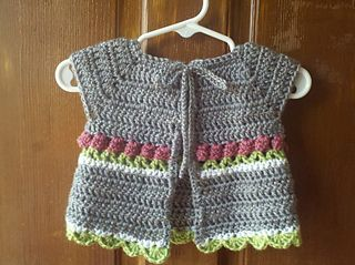 Little roses baby cardigan
