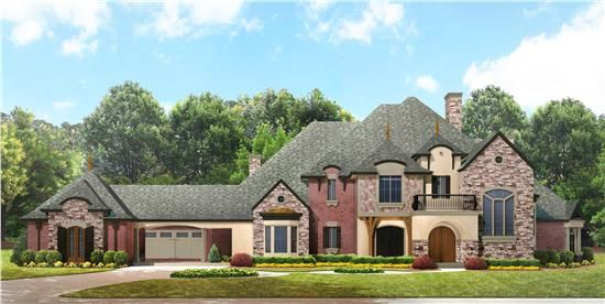 European Manor House Plan 134 1350 4 Bedrm 5303 Sq Ft Home Theplancollection Luxury House Plans French Country House European House Plans