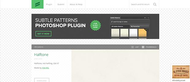 Subtle Patterns, des backgrounds gratuits pour vos sites web
