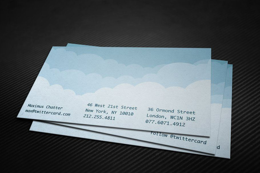 Digital Cloud Business Card Business Card Template Personal Business Cards Graphic Design Templates