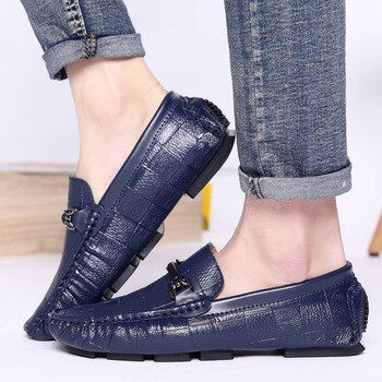 zapato hombre casual cuero men casual shoes luxury brand