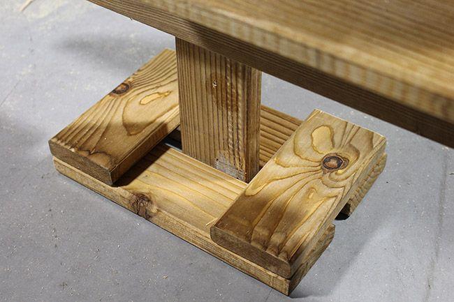 tutoriel comment faire un sapin en bois tree base. Black Bedroom Furniture Sets. Home Design Ideas