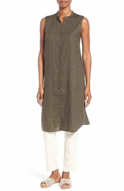 Eileen Fisher Organic Linen Tunic Shirt Regular Petite Over 60 Fashion Fashion Linen Fashion