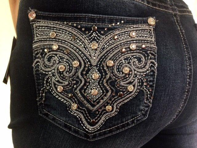 3738cc0e9c9 Woman s EARL JEANS Stretch Bling Rhinestone Butterfly Skinny Jeans   EarlJean  Skinny