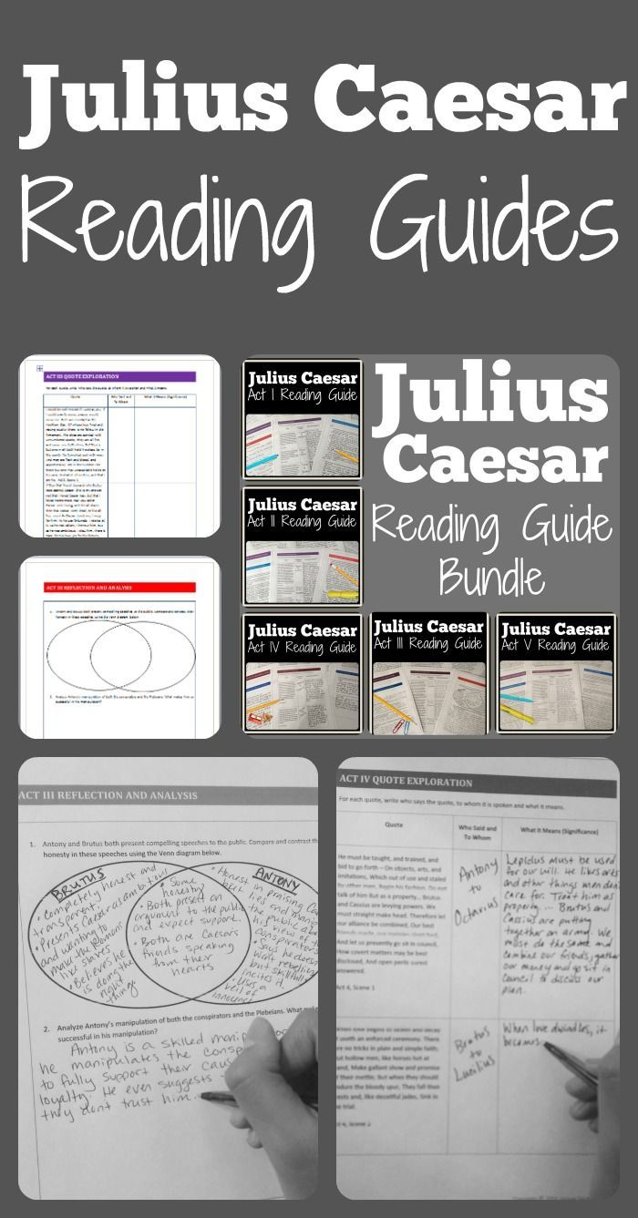 Teaching Juliu Caesar By William Shakespeare These Reading Guide Are Perfect For Your Le Lesson Plan High School Literature How To Paraphrase