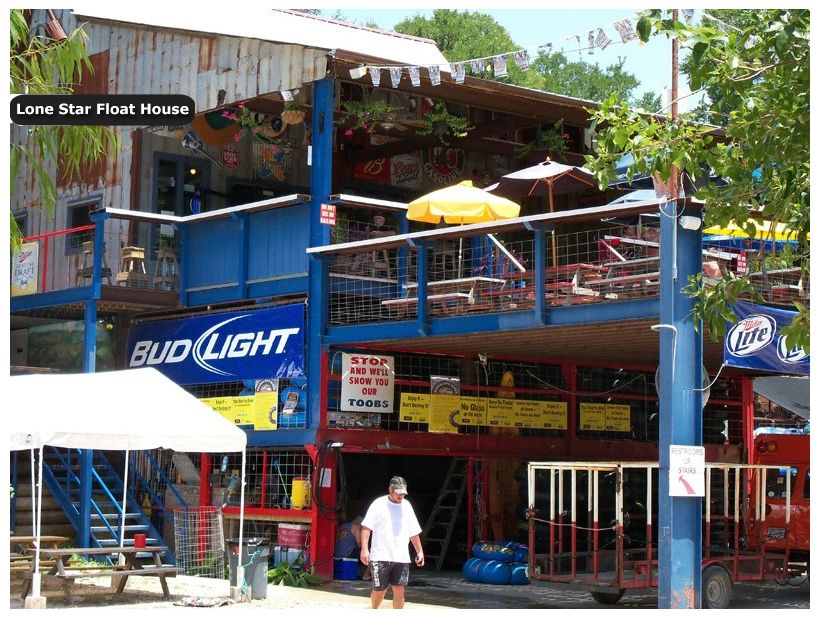 Lone Star Float House Guadalupe River Tubing, Burgers