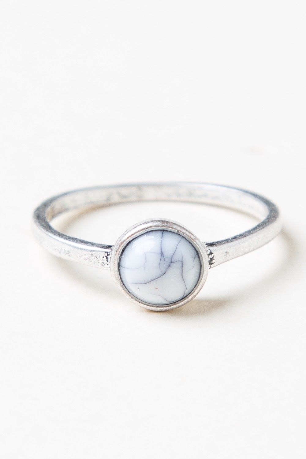Brandy ♥ Melville | Small Marble Stone Ring - Jewelry ...
