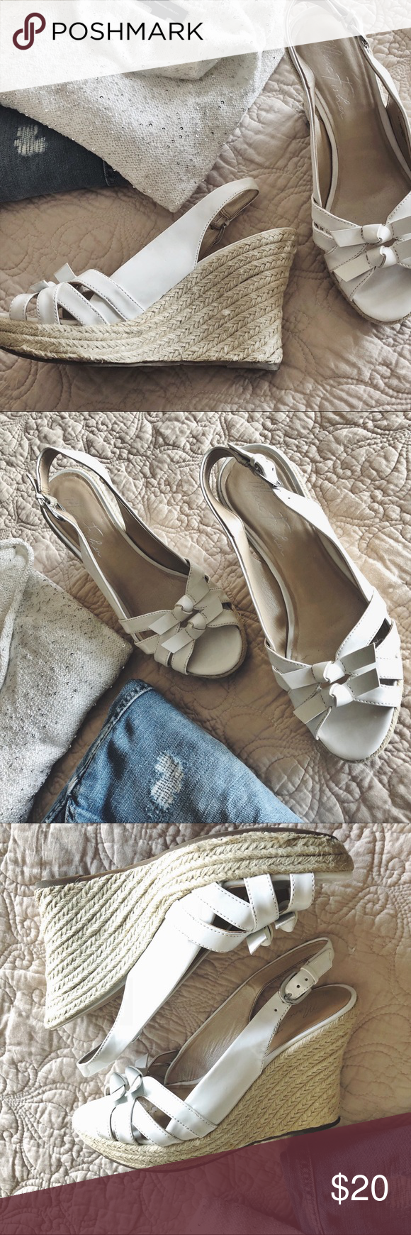 Marc Fishar Wedge Heels White 8 5 Wedge Heels Marc Fisher Shoes Clothes Design
