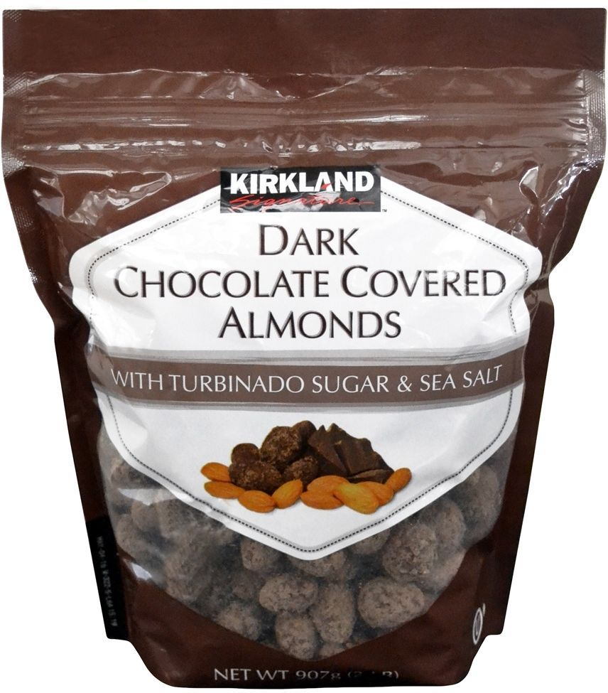 Kirkland Signature Dark Chocolate Covered Almonds, 907g ...