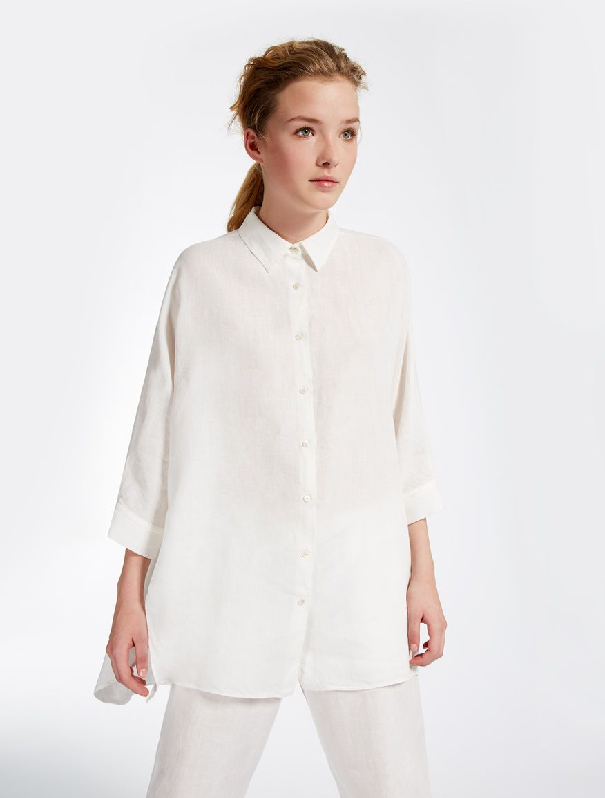 low priced 61a41 e72bb Camicia in puro lino Weekend Maxmara | astronomia | Shirts ...