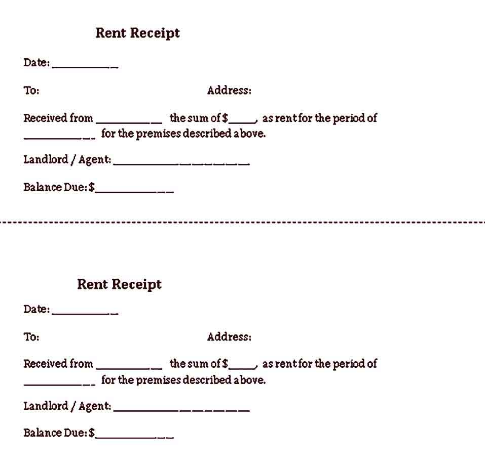Simple Receipt Template Sample Receipt Template Templates Word Template