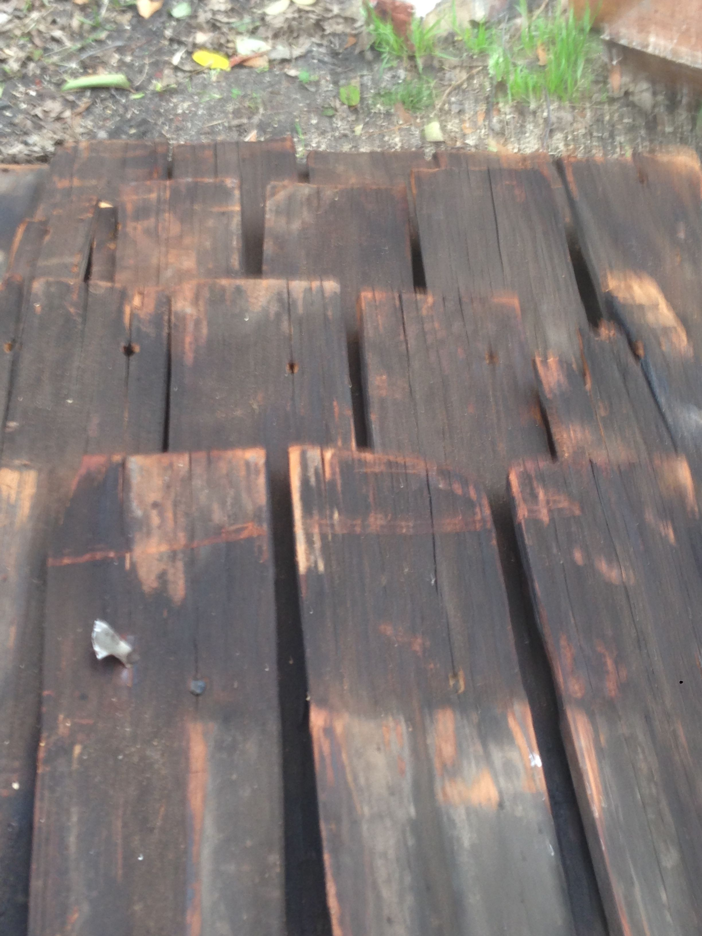 Old Original Shingles From Under The Old Tin Roof On The