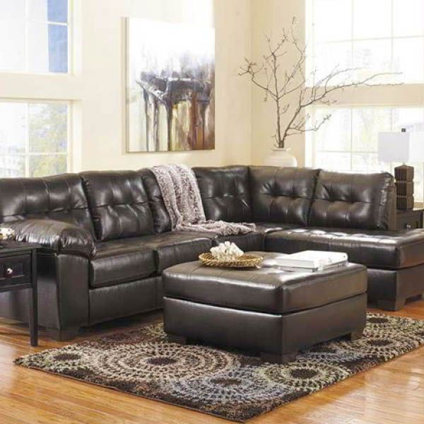 Best Alliston Chocolate 2Pc Sectional W Laf Chaise Sectional 400 x 300