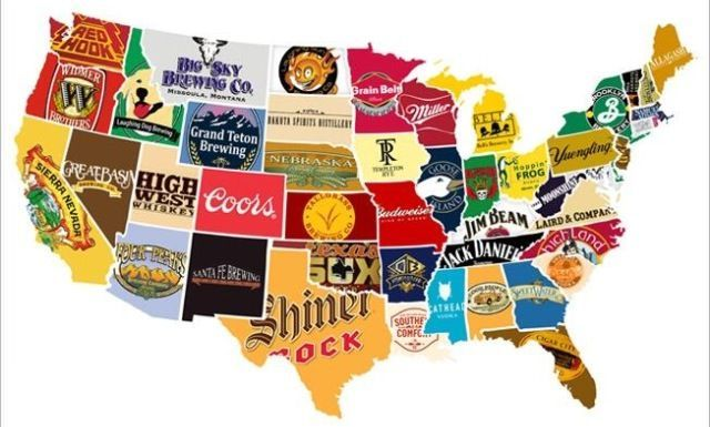 Man Cave idea. Map made from local craft beer labels. | Man ... Beer Label Us Map on beer brand map, beer bottle map, beer chart map,