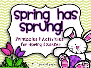 Spring has Sprunch! {Printables & Activities for Spring & Easter} Over 90 pages of fun!