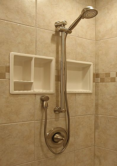 porcelain shower shelf insert | bathroom ideas | Pinterest ...
