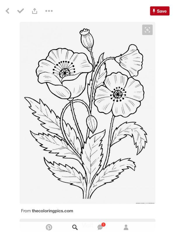 Stamp to print is part of Embroidery flowers pattern -