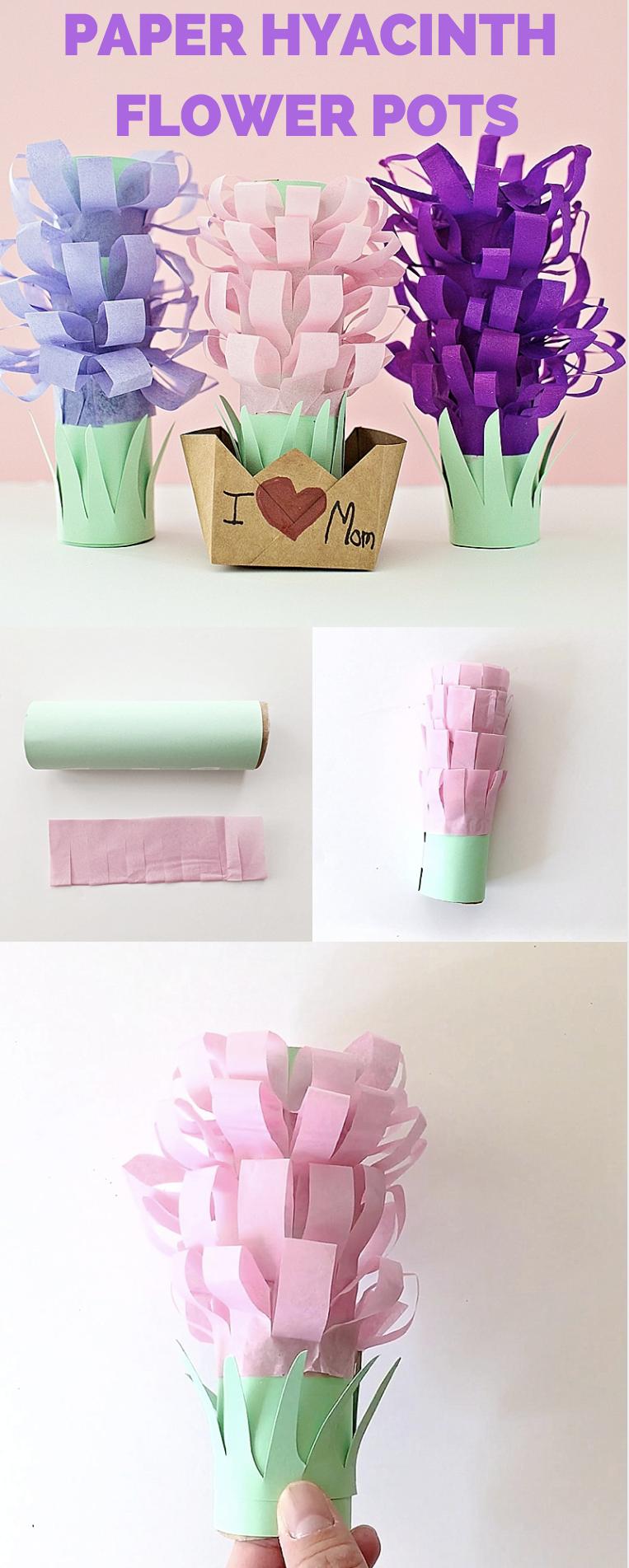 Paper tissue hyacinth flower pots papercraft flower and spring flower crafts paper tissue hyacinth flower pots mightylinksfo
