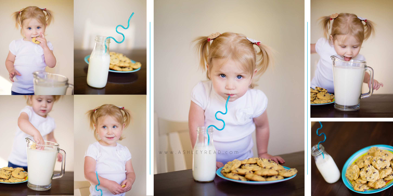 Cookies and Milk Photo Shoot #ashleyreadphotography