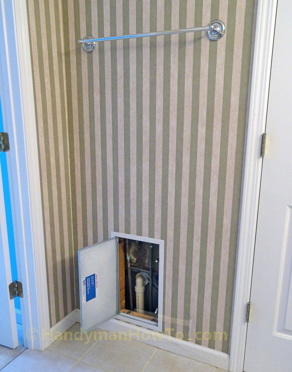 door lowes with remodel doors panel panels bathroom mounted industrial wall plumbing access
