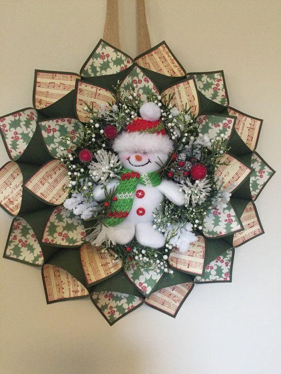 Schneemann-Weihnachtskranz von Craftnrelax auf Etsy   Wreathes ...