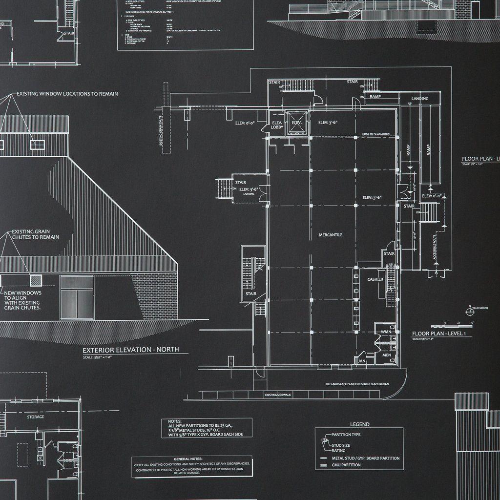 Blueprints Wallpaper