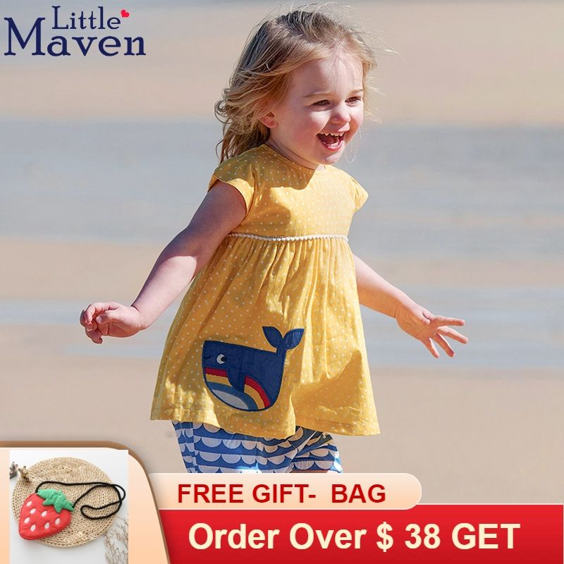 c031772c49483 Little Maven Brand Children 2019 Summer Baby Girl Clothes Cotton ...