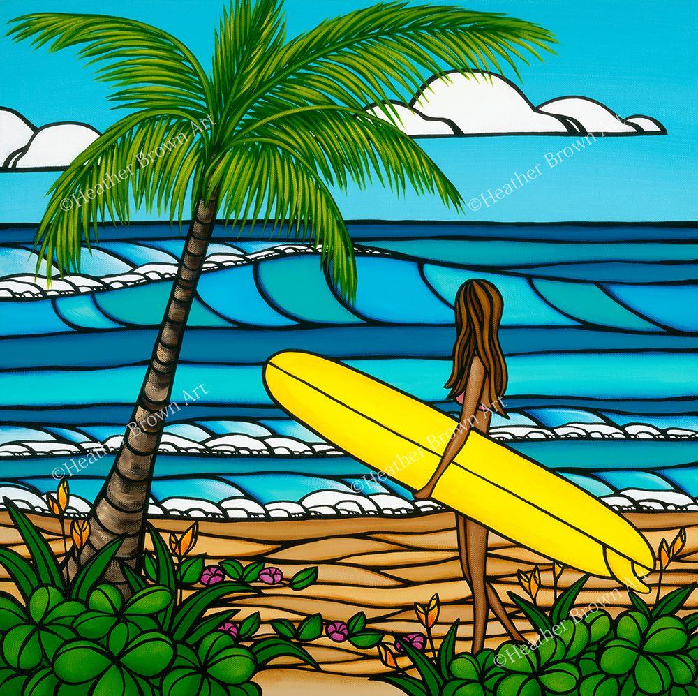 Sunshine Surf C サーフアート ハワイアンアート サーフボードアート