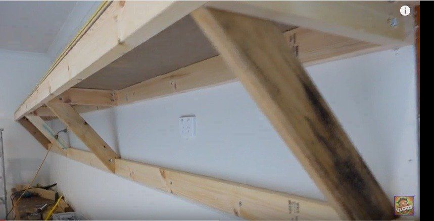 Self Supporting Shelves Garage Wall Storage Diy Garage