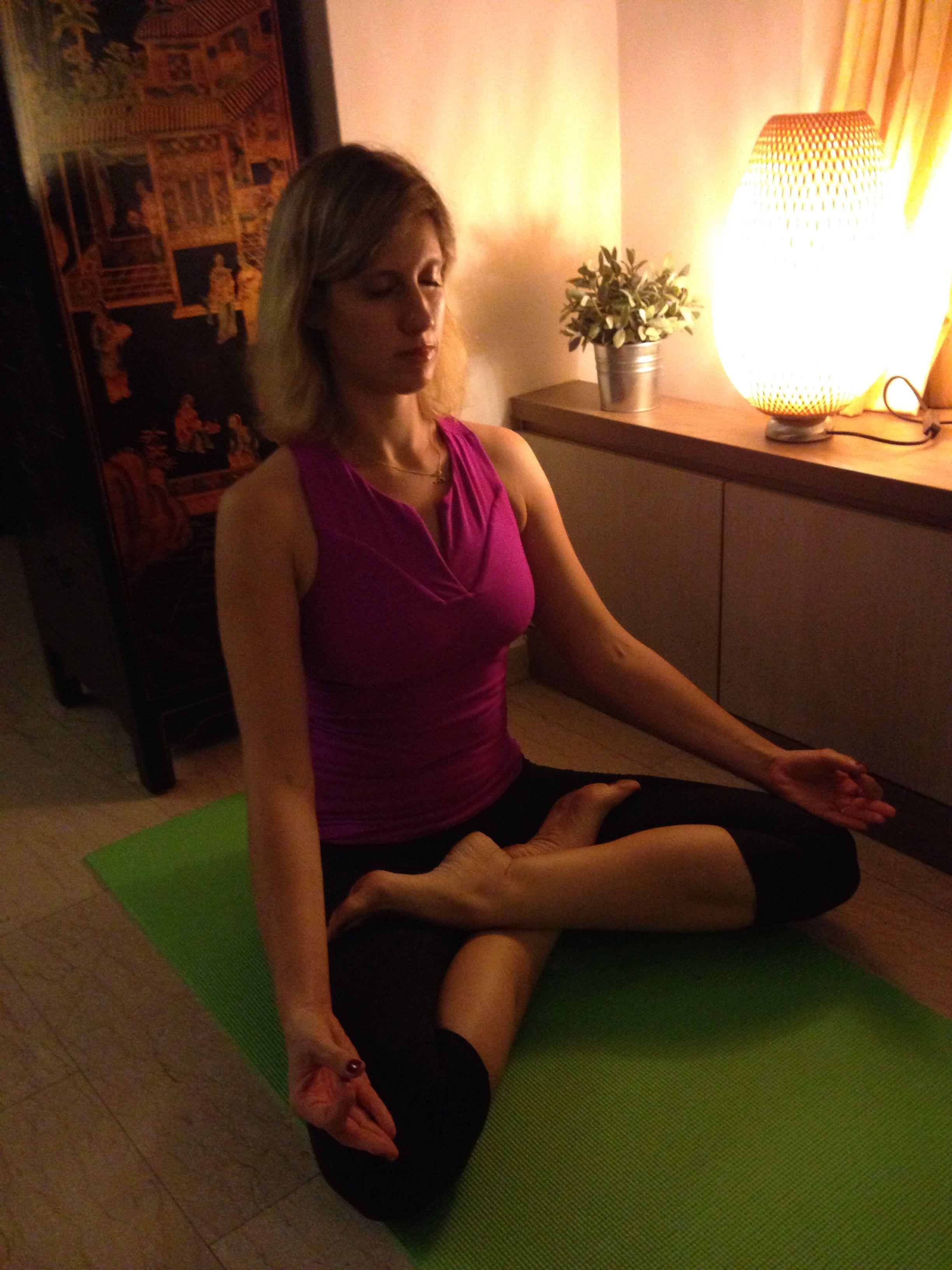 Meditative asana by Sabine YogaSana | Yoga postures, Yoga ...