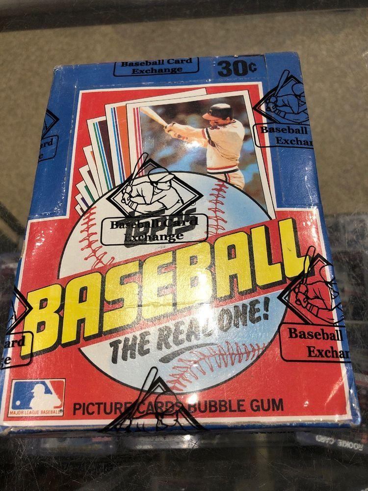 1982 topps baseball wax box 36 packs bbce sealed wrapped