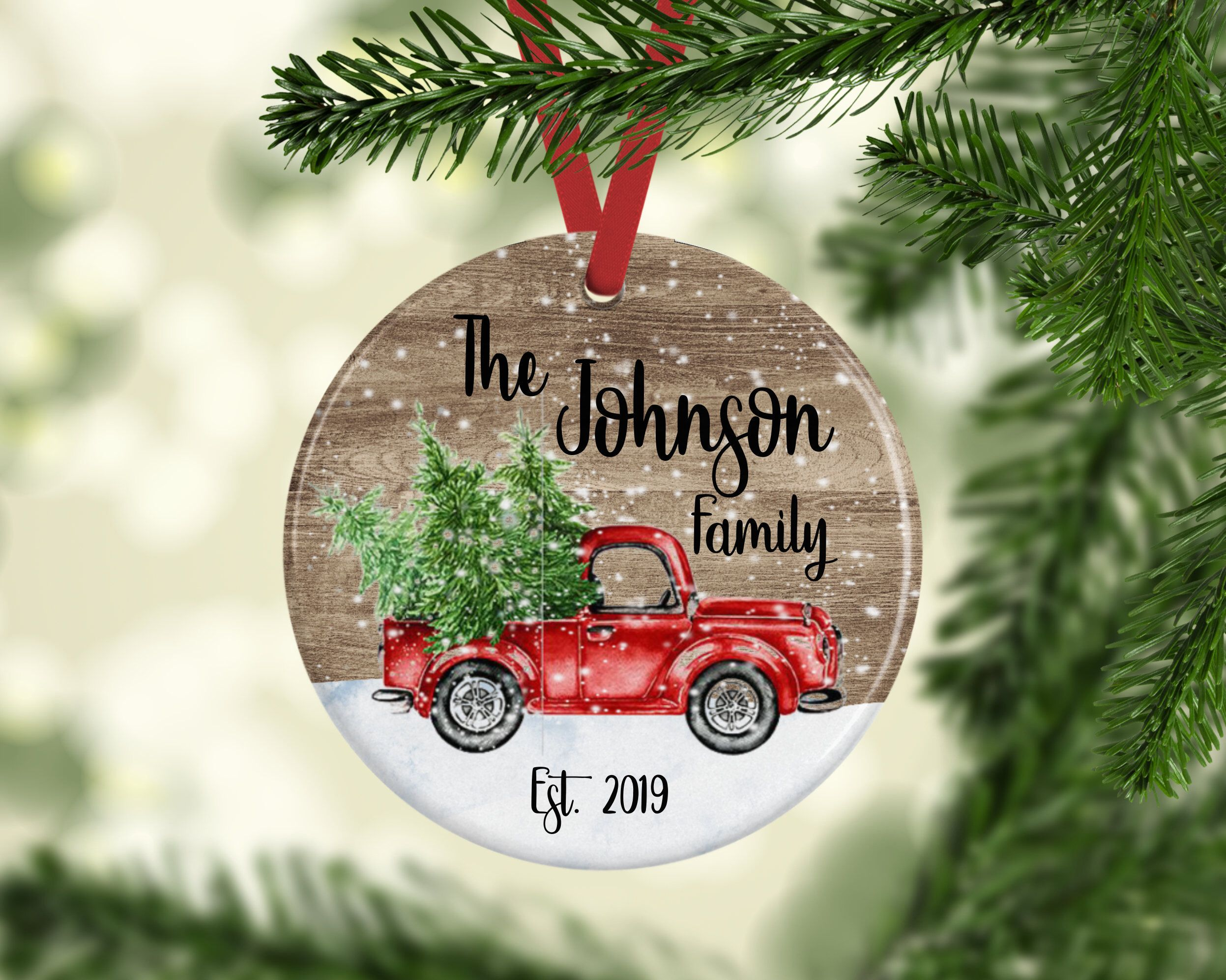 Personalized Christmas Ornament Family Ornament Wood Etsy Personalized Christmas Ornaments Family Personalized Christmas Ornaments Christmas Ornaments