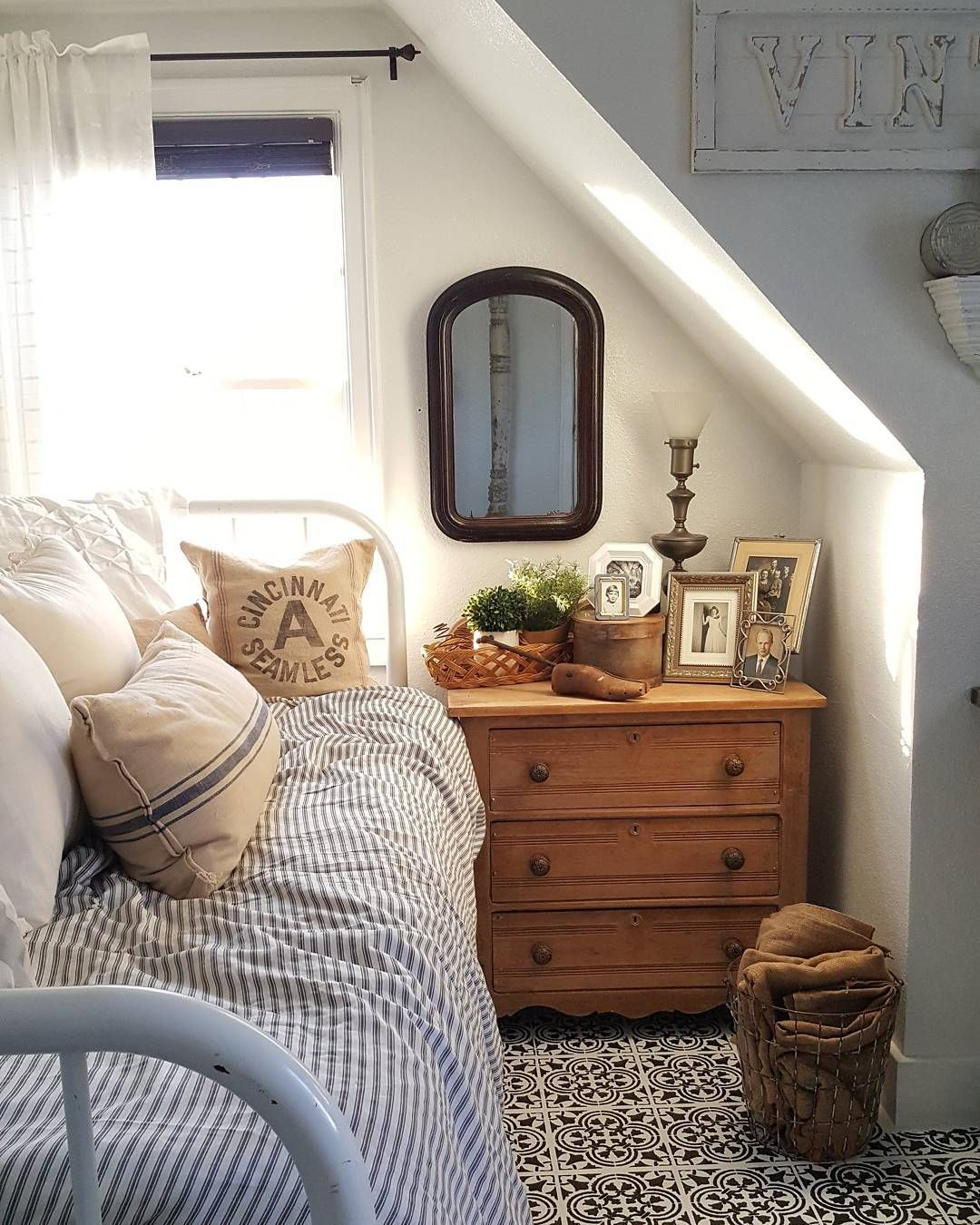 Superbe Mom Of Girls, RN, Collected Home Through Thrifting And DIY DM For  Collaborations. Attic BedroomsCottage Bedroom DecorAttic Bedroom SmallEaves  ...