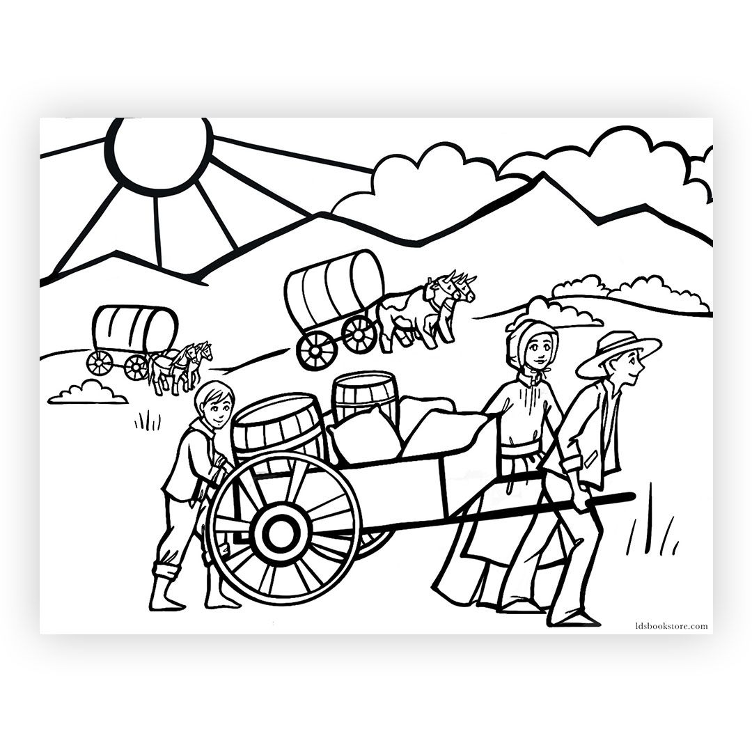 Pioneer Day Coloring Page In