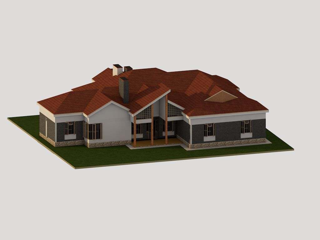 4 Bedroom Bungalow House Plan In Kenya Muthurwa Com Bungalow House Plans Modern House Plans Roof Design