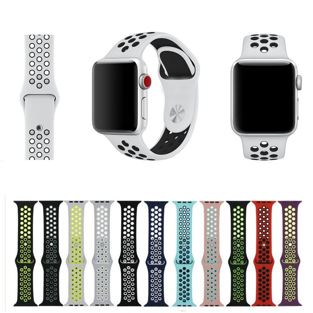 edfb4a8a459 satın almak Spor Silikon band kayışı apple İzle nike için 42mm 38mm bilezik  bilek bandı izle watchband Için iwatch 3 2 1