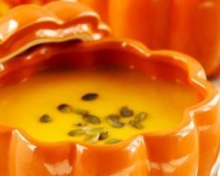 Soupe minceur vitaminée de potimarron aux carottes