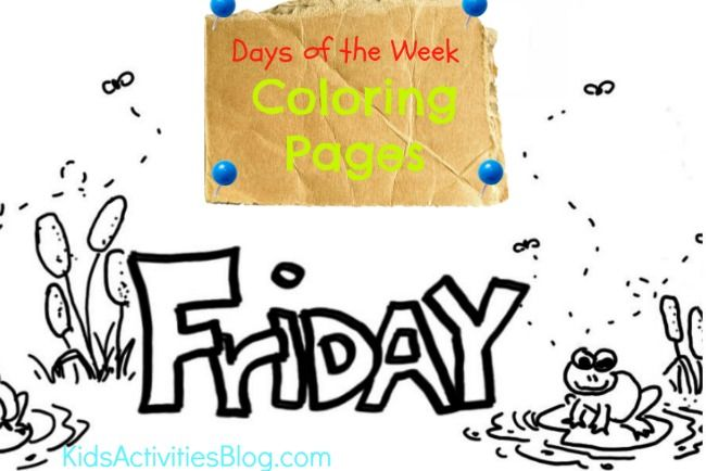 Friday Coloring Page Lekser engelsk Coloring pages