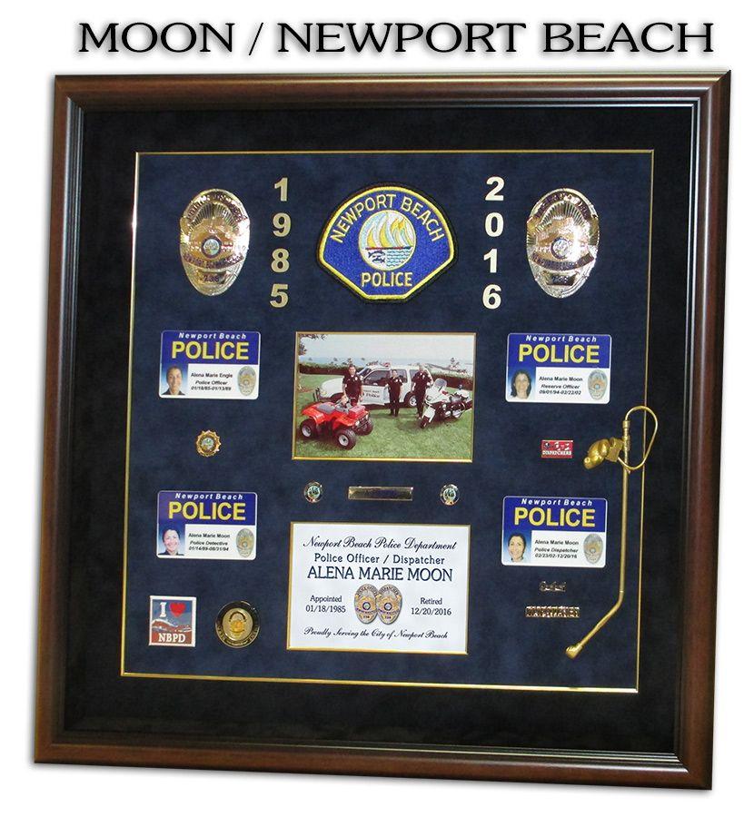Moon - Newport Beach PD presentation from Badge Frame