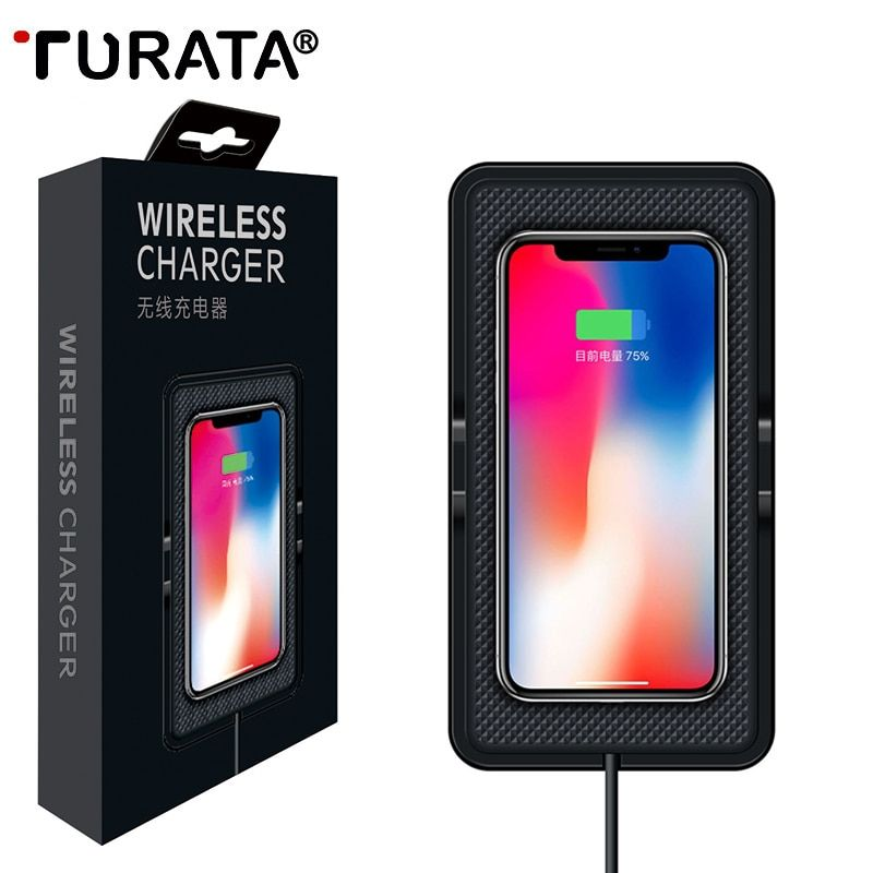 TURATA Qi Wireless Car Charger For Samsung S8 Plus Dashboard