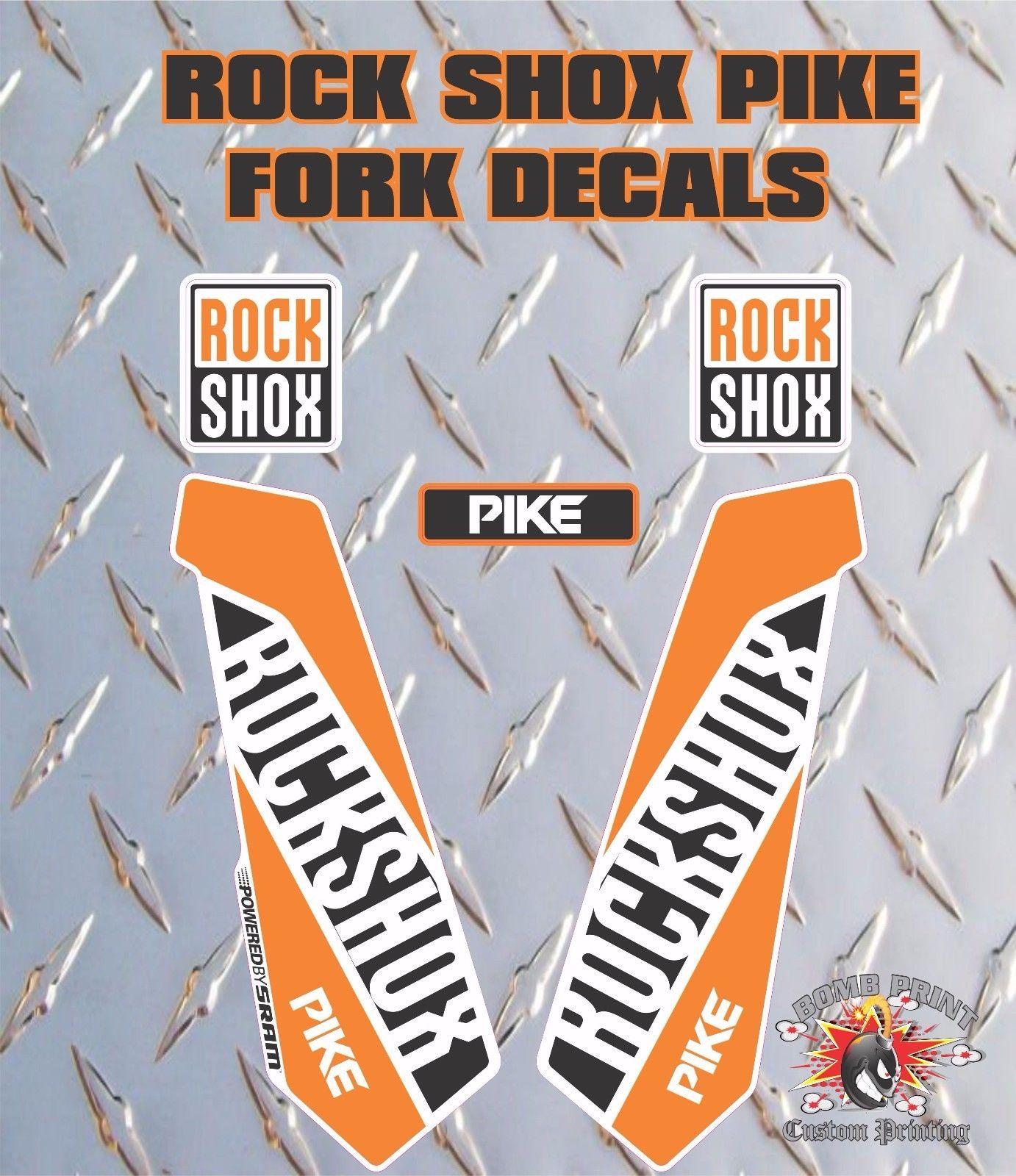New custom RockShox PIKE Camo fork stickers decals mtb bike