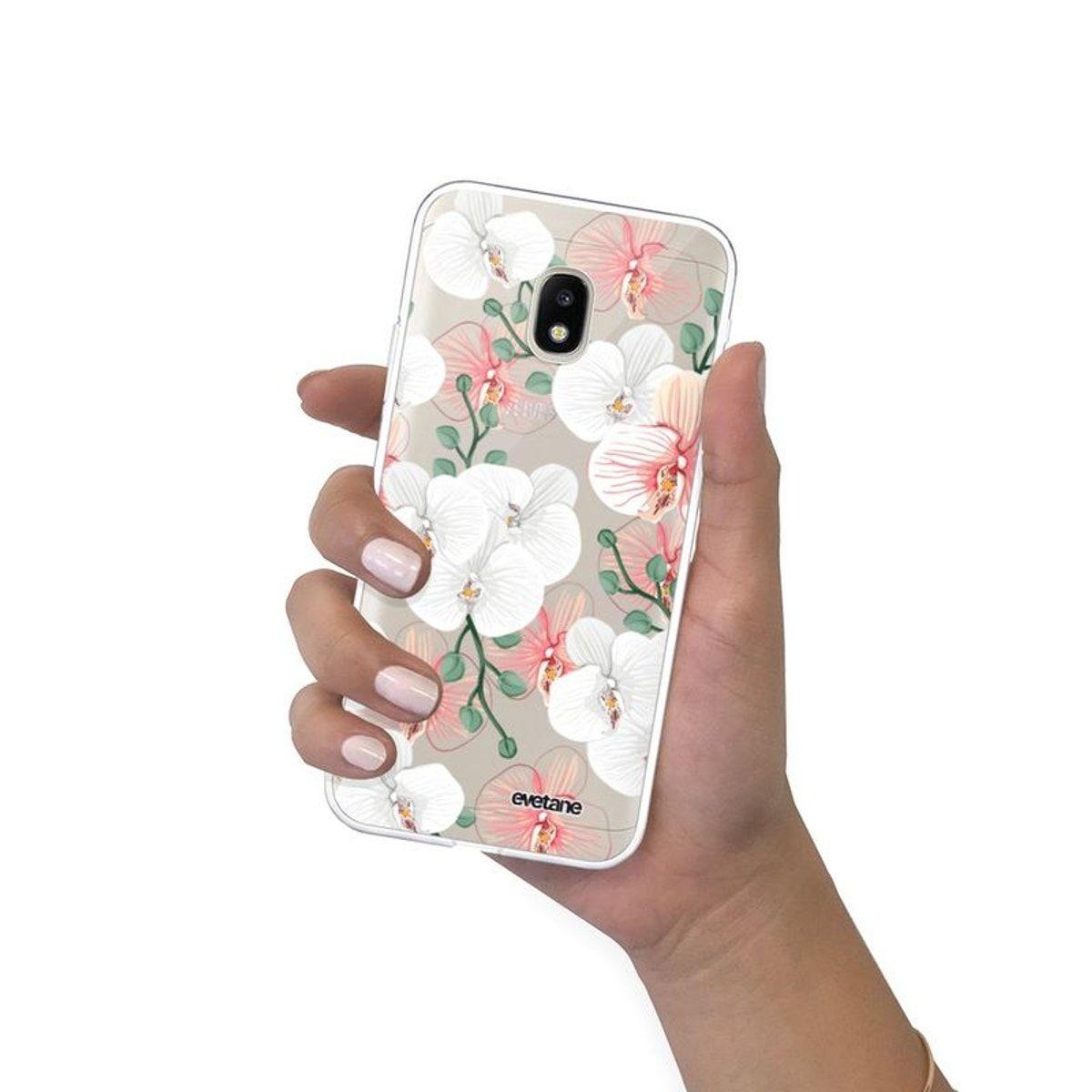 Coque Souple Samsung Galaxy J3 2017 Souple Transparente Orchidées ...