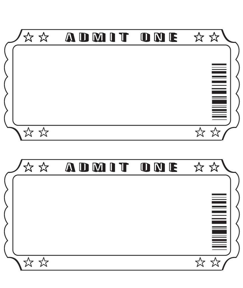 Captivating Blank Ticket Template Intended Printable Blank Tickets