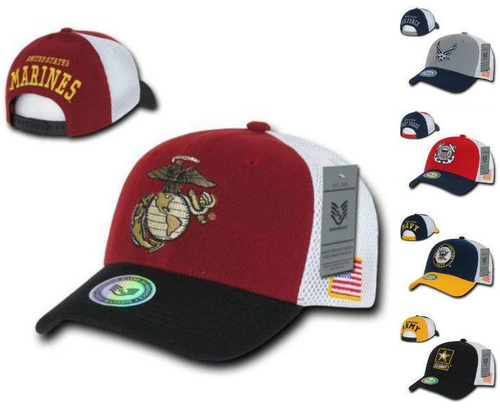 be753aa627a US Navy Air Force Army Coast Guard Marines USA Flag Snapback Baseball Hat  Cap  RapidDominance  BaseballCap
