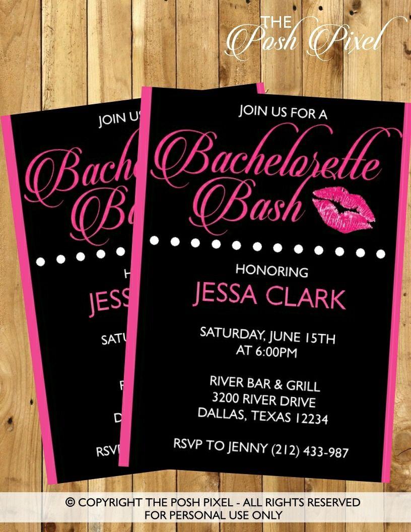 printable bachelorette party invitation - download, edit & print, Party invitations