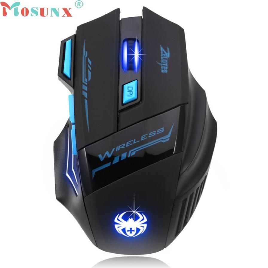 Backlit Mouse Wired Optical Gaming Mouse Adjustable 2400DPI 4Color LED Laptop PC