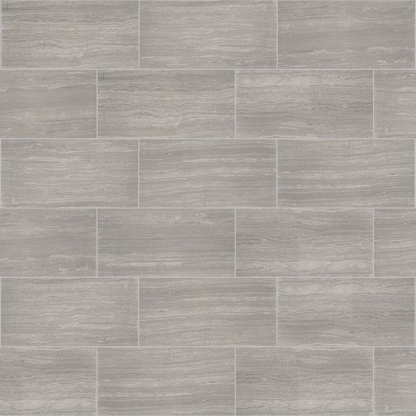 Style Selections Vista Gray Ceramic Travertine Floor And Wall Tile 1 20
