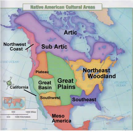 Native american cultural areas american culture for North american culture facts