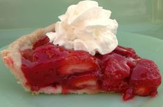 Fresh strawberry pie.  My birthday is coming up and this is what I want instead of cake :)